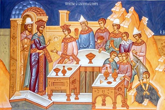 The Parable of the Wedding Feast (Luke 14:16-24)  ( source )      Elder Symeon Kragiopoulos: God sees into the heart of every man  (On t...