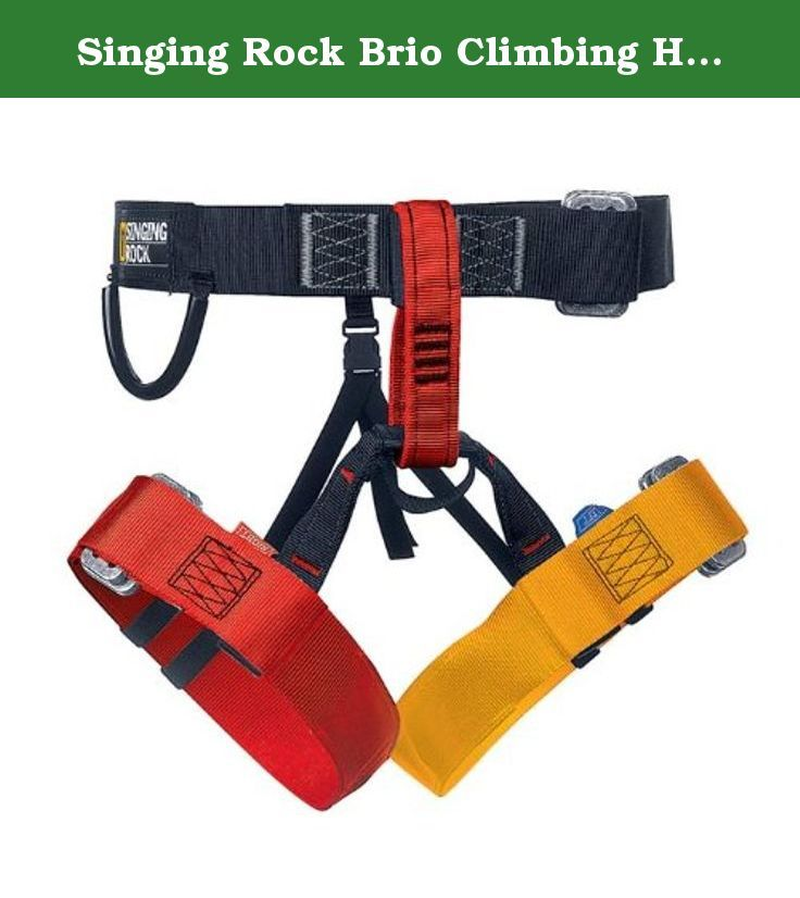 Singing Rock Brio Climbing Harness. Ideal for children or beginners. Safety buckle system eliminates the possibility of bad strap lacing through the buckle. The Brio comes in new modern color design with respect to maximum safety. Manufactured just as one uni size. The Brio one size fits everybody who likes to get maximum safety at an outstanding price.