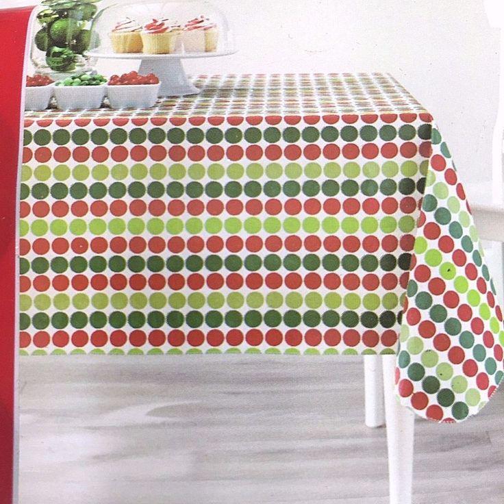 Vinyl Christmas Tablecloths 90 Round Christmas Tablecloth