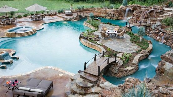 Every backyard needs a complete waterpark/lounge area not just a plain old