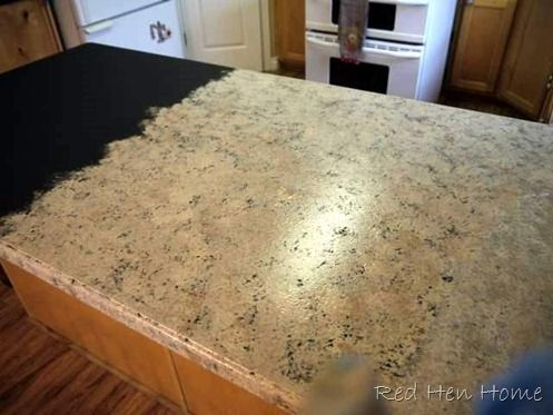 Diy countertops change the color by painting them for Kitchen granite countertops colors