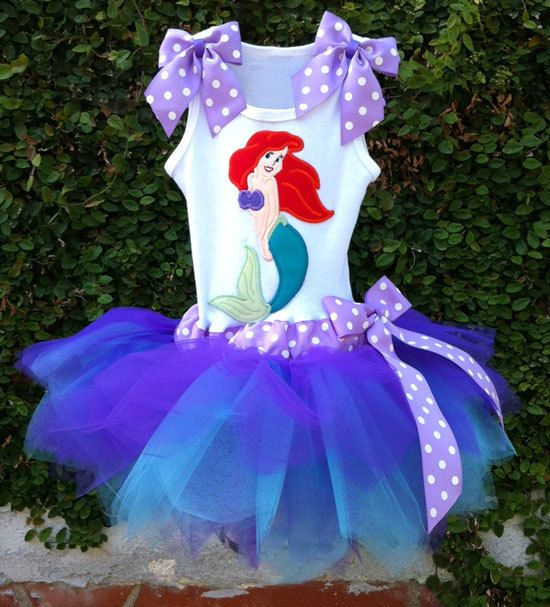 Ariel the Little Mermaid tutu dress