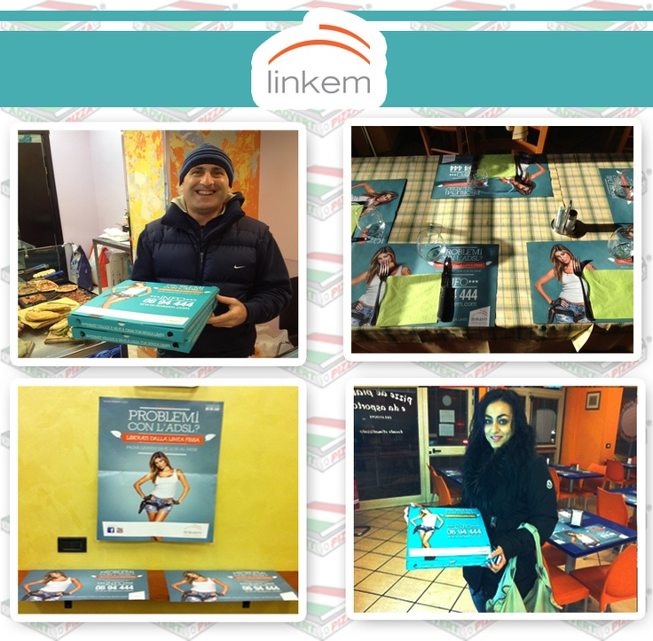 Case History personalizzazione pizzeria.  Campagna Linkem