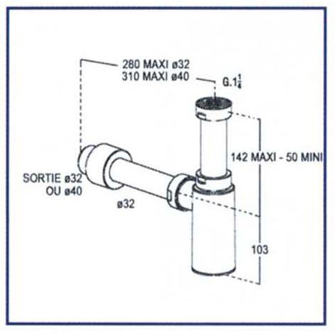 Siphon en ABS chromé Nicoll - masalledebain.com