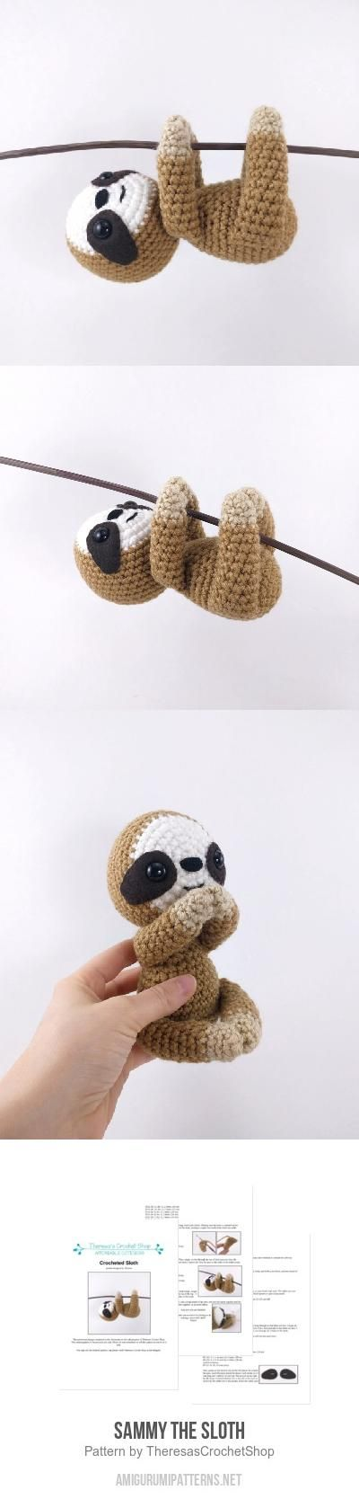 Sammy the Sloth amigurumi pattern