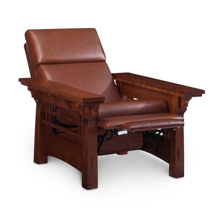 MäRyan Recliner From Simply Amish Furniture. Shown In Quartersawn White Oak  And Our Bourbon Finish