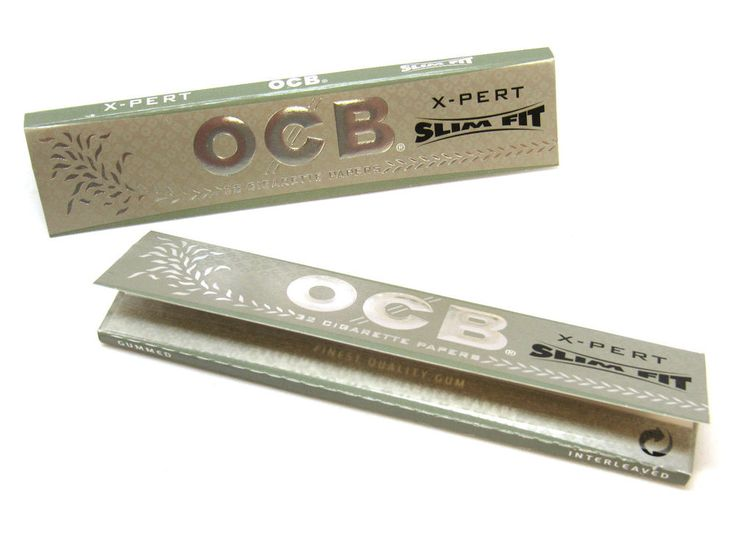OCB Rolling Papers X-PERT Slim Fit - 2 Pack - Finest Quality- 32 Papers EA - USA
