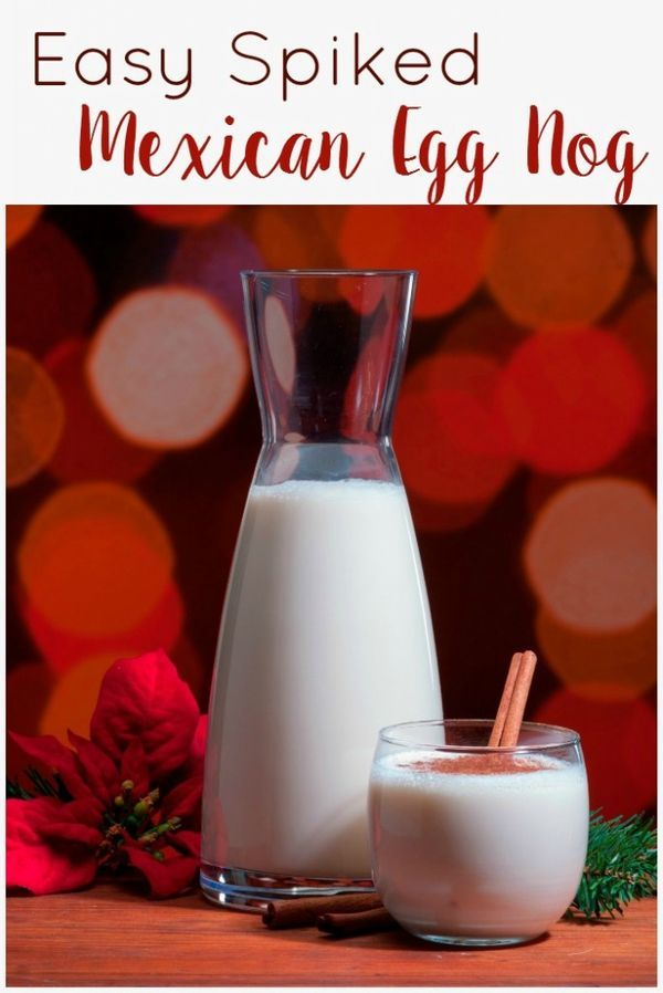 Easy spiked Mexican Egg Nog cocktail recipe.