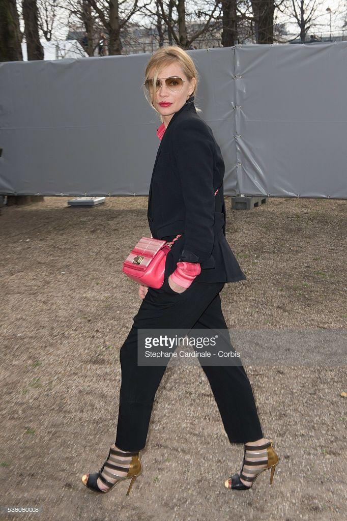 Photo d'actualité : Actress Emmanuelle Beart attends the Elie Saab...