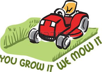 mowing lawn: Its the perfect advertisement for your lawn mowing business.