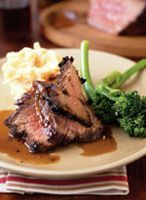 Note:  A beef tri-tip roast is a triangular, boneless beef loin roast that has a top layer of fat; it's an ideal cut for grilling. As it cooks, it plumps up into a delicious roast, enough for four servings. If a tri-tip roast is unavailable, you can substitute a boneless shell steak roast or a flank steak.