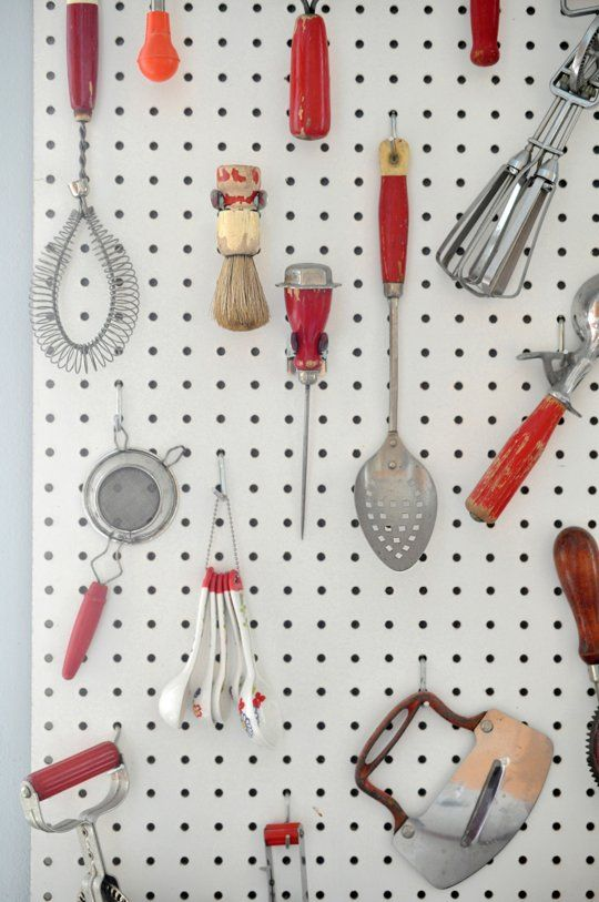 Peg board inspiration a collection of ideas to try about for Kitchen pegboard ideas