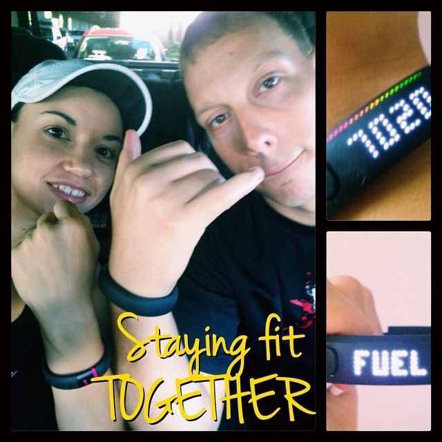 About 2 weeks or so ago we both started using Nike Fuel Bands ✨It has been full out friendly fitness WAR in our house lol Instead of calories it counts fuel to even out the playing field based on your height-weight-gender-and so on....and we have been trying to beat each other everyday. https://www.facebook.com/TeamJERF