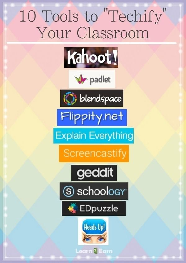 "10 Tools to ""Techify"" your classroom. I love Kahoot, so I'm sure the others …"