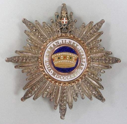 Placca di Cavaliere di Gran Croce dell'Ordine della Corona d'Italia
