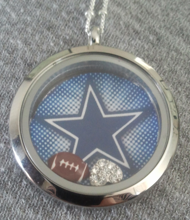 Crafty idea for Origami Owl and Dallas fans - Cut out your star and put it in  your locket.  How fun!  For how to and to purchase your Origami Owl Locket, contact SOPHIA at http://www.sophiaward.origamiowl.com