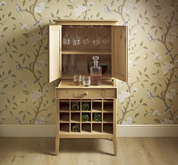 Ludlow Drinks Cabinet   Doors Open. From Wood Bros (Furniture) Ltd