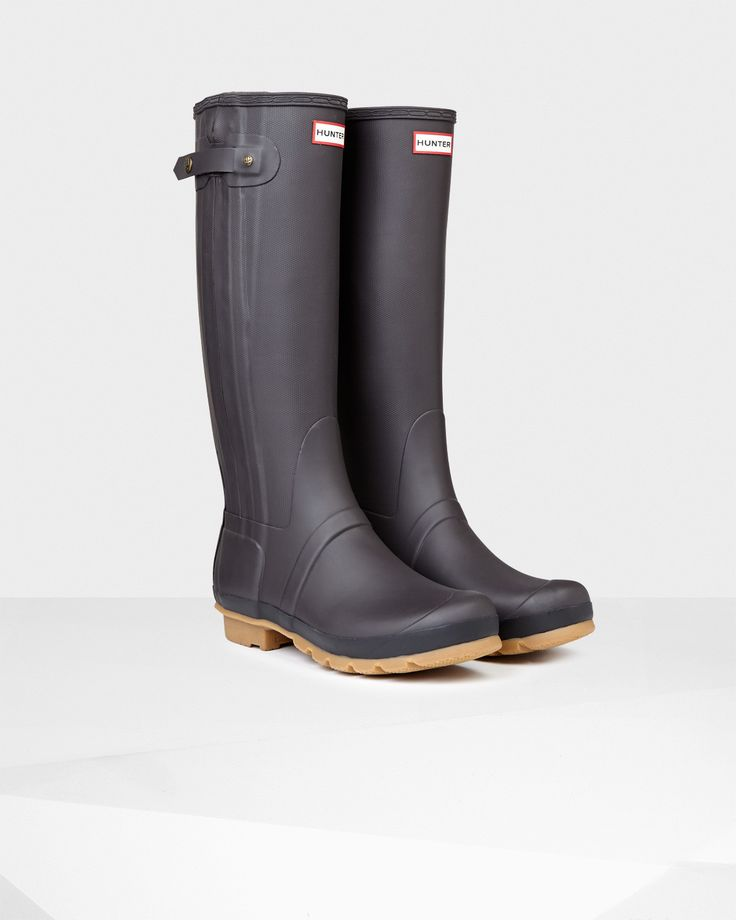 This slim fit Wellington boot features a textured finish presented in neutral tones, inspired by the hunting designs from the autumn/winter 2014 runway show.
