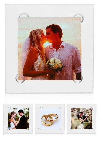Check Out These Square Glass Coasters Are Perfect To Give Away At A Wedding Favors