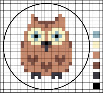 Cross Stitch Owl- I love these sort of cross stitch patterns, they make wonderful guides for quilt designs! How cute would this owl be on a baby quilt?!