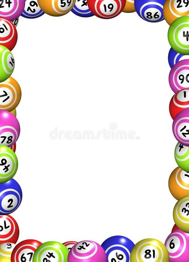 Bingo Balls Frame Illustration Of A Frame Made Of Bingo Balls Ad Frame Balls Bingo Illustration Balls Ad Bingo Patterns Bingo Template Bingo