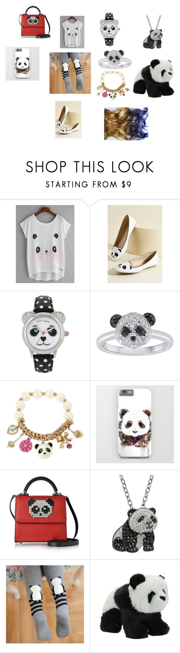 """""""panda outfit"""" by puppy-love8569 ❤ liked on Polyvore featuring Betsey Johnson, Les Petits Joueurs and Animal Planet"""