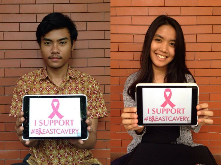 Marisa and Oka from University of Indonesia wanna support our campaign #breastcavery thanks for your help guys ;)