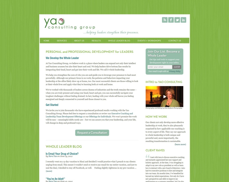 Yao Consulting Group Website