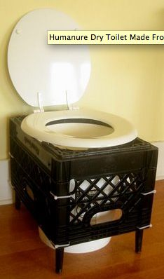 make a toilet from a 5 gallon bucket and a milk crate. Step by step directions.