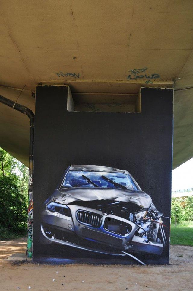 Уличное искусство бельгийца Smates