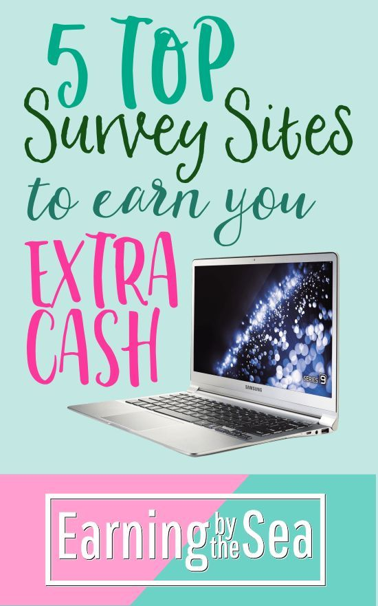 Why not try these top survey sites to earn extra cash from home!  #frugal #frugalfamily #money #homebusiness #workfromhome #mum #business