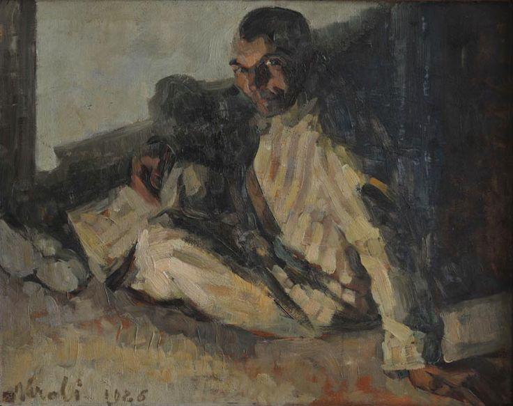 Luigi Varoli/Il galeotto/1926/olio su tavola, cm 62,5x78//Museo d'Arte della Città Ravenna