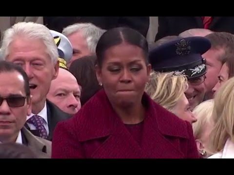 01/20/2017 looks to me that someone made a cruel joke. please ignore the rude video. i'm posting it for the interesting people study. Did you miss funniest one minute of the Trump inauguration? - YouTube
