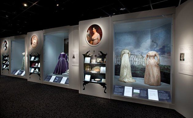 National Museum of American History - Smithsonian Museum - Gowns worn by First Ladies at presidential inaugural balls.