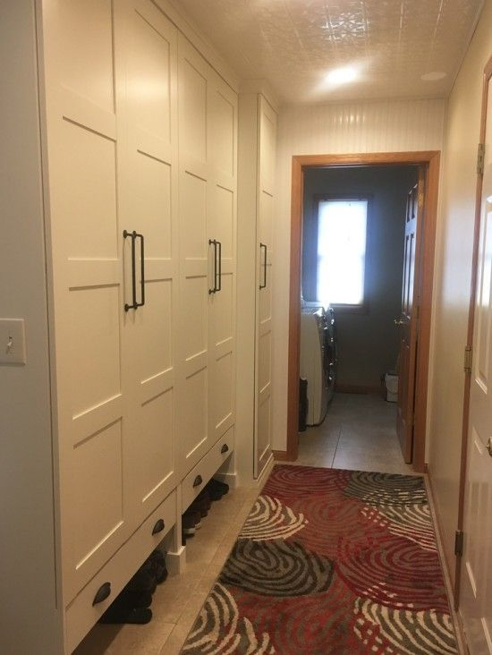My mudroom was cramped, dark and messy.  Mudroom – before  I wanted a beautiful, custom mudroom but didn't want to pay a custom price. I started looking at IKEA bookcases and wardrobes and realized th
