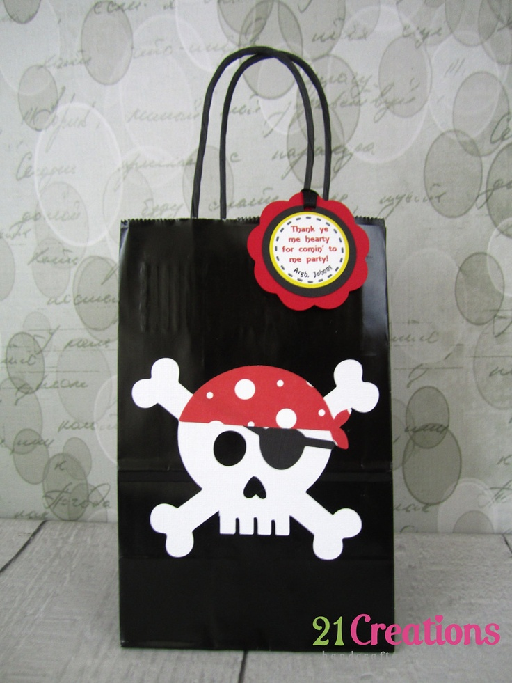 Pirate Birthday Banner by 21Creations on Etsy, $30.00