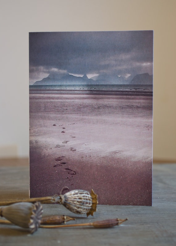 Blank greetings /notecard  The Cuillins, Isle of Skye from Applecross from by Paper Snapdragon, £2.00