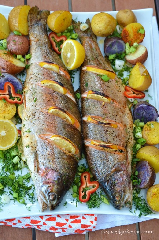 whole baked trout