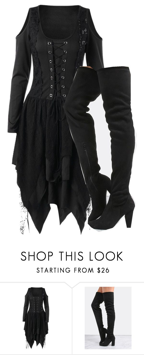 """Pirate Dress"" by gothic-trash ❤ liked on Polyvore featuring pirate, THIGHHIGHBOOTS, thighhigh and piratedress"
