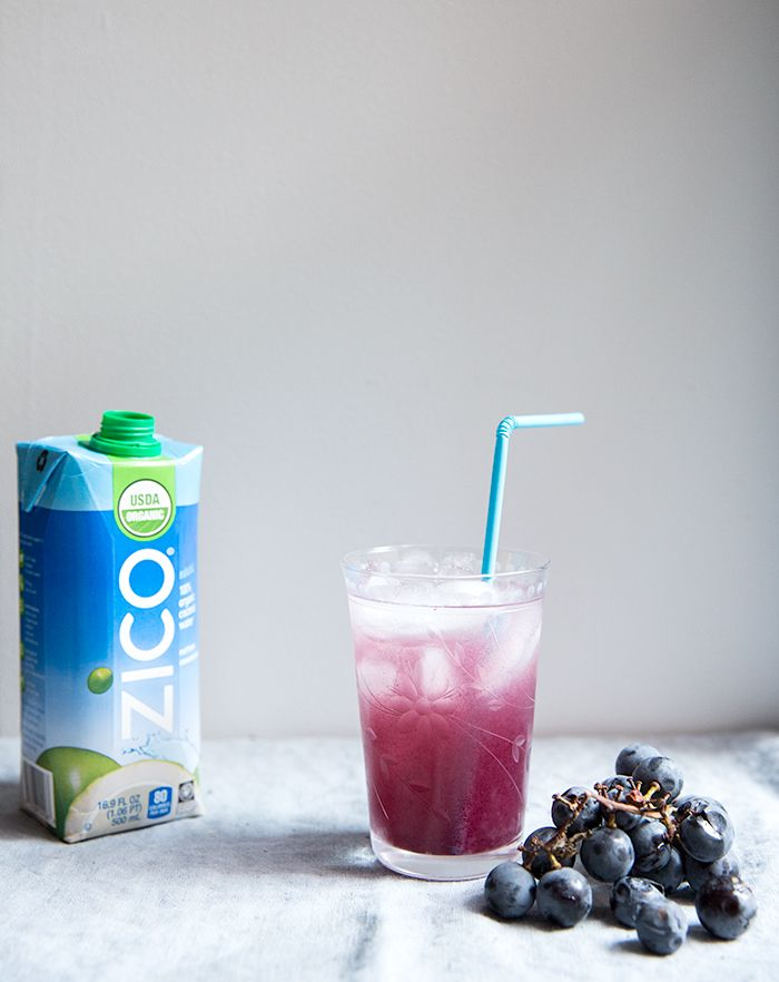 concord grape + coconut water smash | what's cooking good looking ..... Just in time for Halloween! Try this new Concord Grape + Coconut Water cocktail recipe made with @ZICOcoconut's new organic fair trade coconut water!