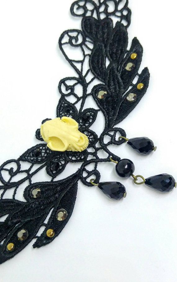 Elegante collarino gotico vittoriano in di MaggieHandmadeBijoux