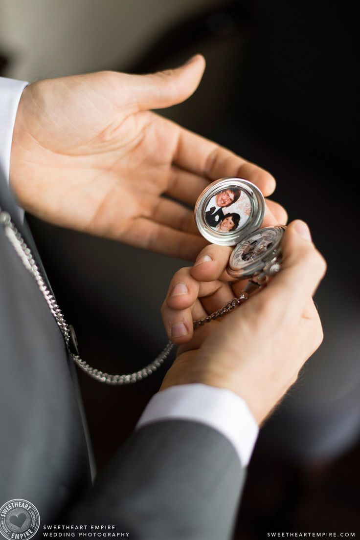 Enoch Turner Schoolhouse Wedding. Pocket watch gift for groom. #sweetheartempirephotography