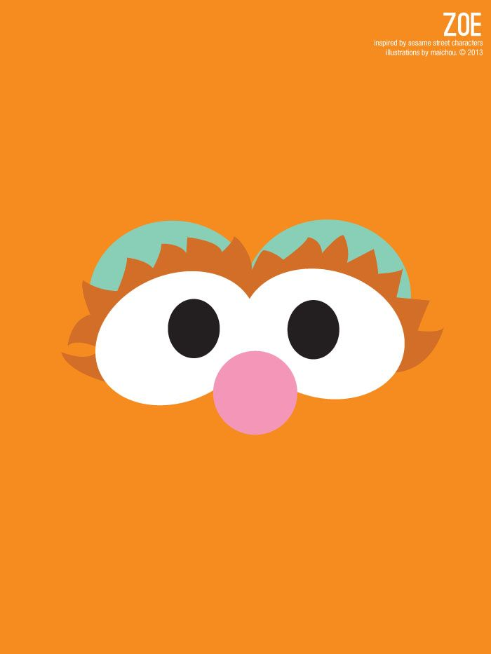 Sesame Street Zoe Illustration Poster via design. bake. run. – Annette