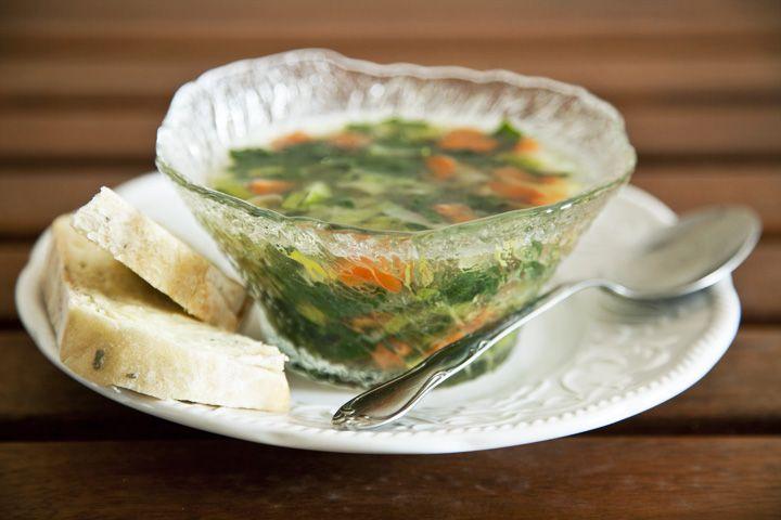 Soupe légère de dinde et légumes