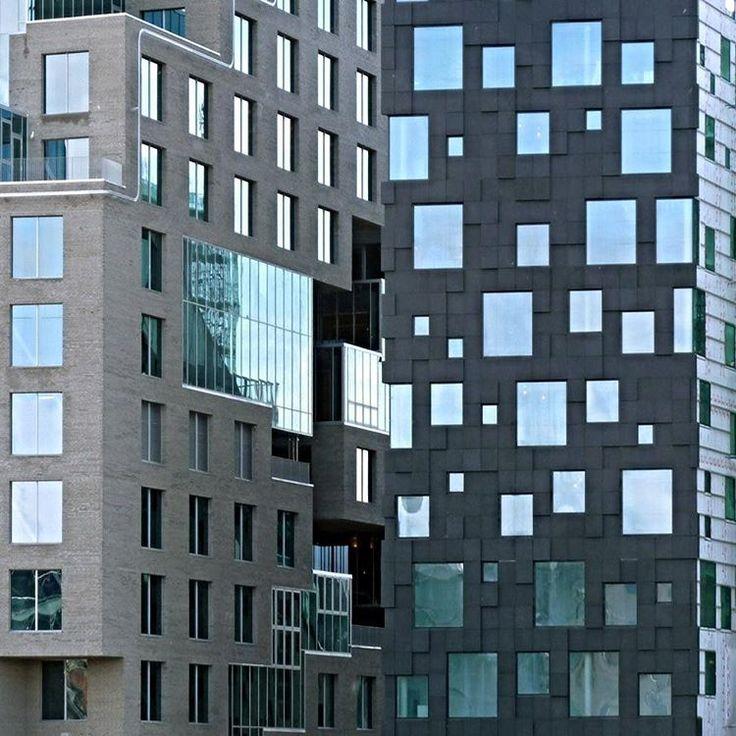 """""""Hollandalı mimarlık ofisi MVRDV'nin """"piksel""""ler üzerinden şekillenen tasarımı, standart birimlerden özelleşmiş mekanlar üretiyor. MVRDV'nin DNB şirketi…"""""""
