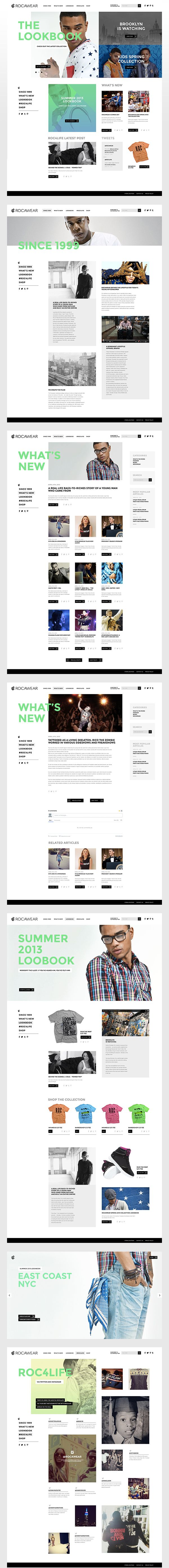 rocawear website on Behance