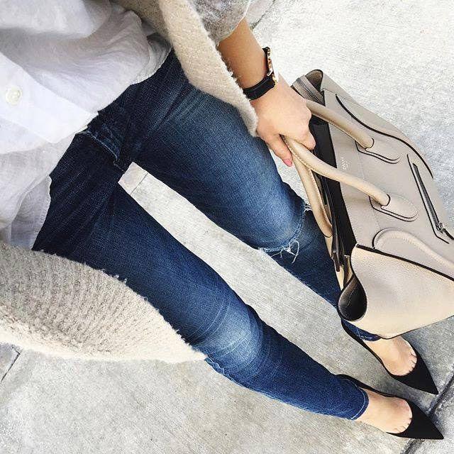Пастельные тона идеально сочетаются с джинсами. Особенно если это джинсы 7 For All Mankind.