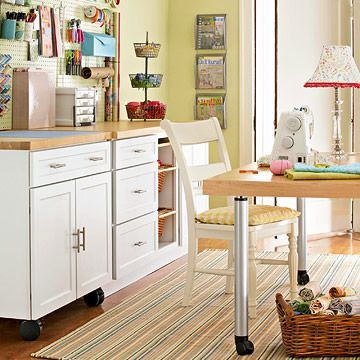 Transform a spare room into the perfect craft room.