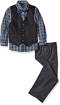 Nautica Little Boys Four-Piece Woven Pique Ve... by Nautica http://amzn.to/2gypNND