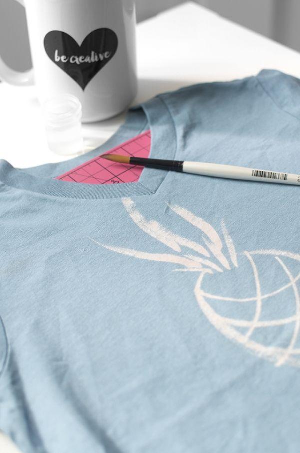 DIY Comment dessiner sur un t-shirt sans peinture textile - Le Meilleur du DIY